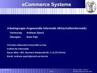 eCommerce Systeme - Institut für Informatik - Christian-Albrechts ...