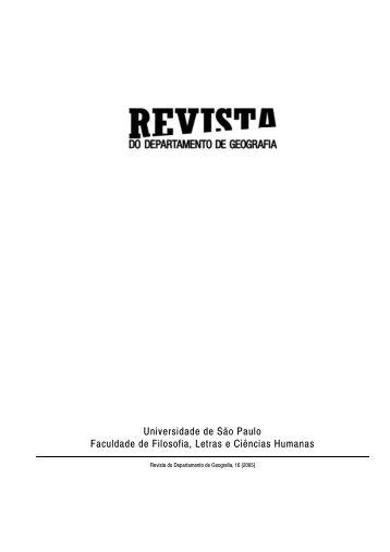 Editorial - Departamento de Geografia - USP