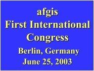 Berlin, Germany June 25, 2003 - afgis