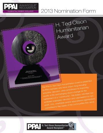 2013 Nomination Form - PPAI