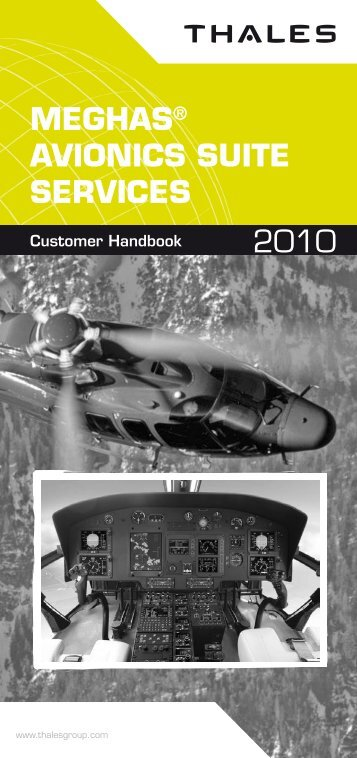 MEGHAS® AVIONICS SUITE SERVICES 2010 - Customer Online