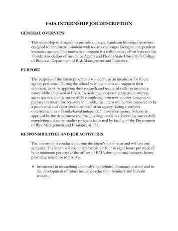 Job Description: Sales Support Executive (internship)