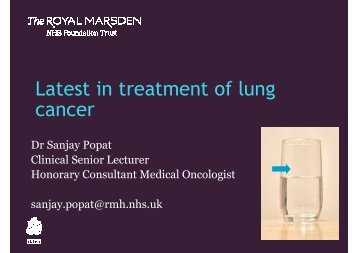 Latest in treatment of lung cancer - The Royal Marsden