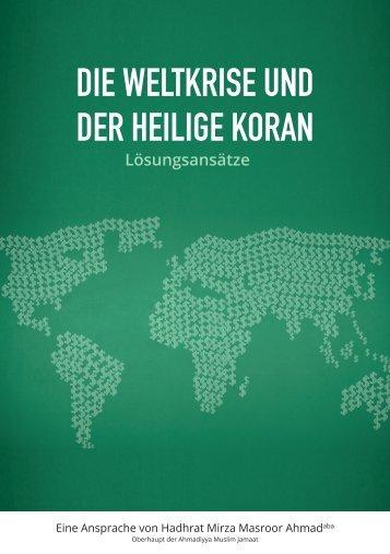 Die Weltkrise und der Heilige Koran - Ahmadiyya Muslim Jamaat ...