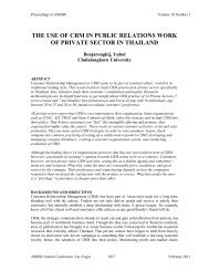 THE USE OF CRM IN PUBLIC RELATIONS WORK OF ... - Asbbs.org