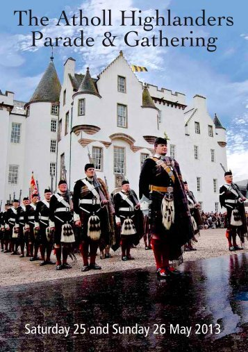 to download a pdf of the Gathering Weekend Itinerary. - Blair Castle