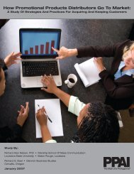 How Promotional Products Distributors Go To Market: - PPAI
