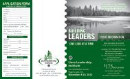 Leadership Institute Brochure and Application - Lions of Michigan