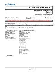 FT1018 Feedtech Silage F400 SICHERHEITSDATENBLATT - DeLaval