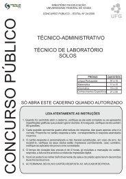 Técnico de Laboratório/Área: Solos