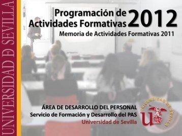 Servicio de Formación y Desarrollo del P.A.S. de la Universidad de ...
