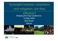 Synergies between adaptation and mitigation ... - Bridging the Gap