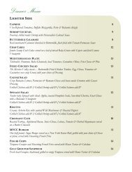 Dinner Menu - Mission Valley Country Club