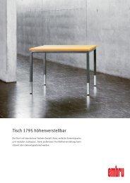Tisch 1795 höhenverstellbar - Embru