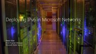 Deploying IPv6 in Microsoft Networks by Sean Siler - nitrd