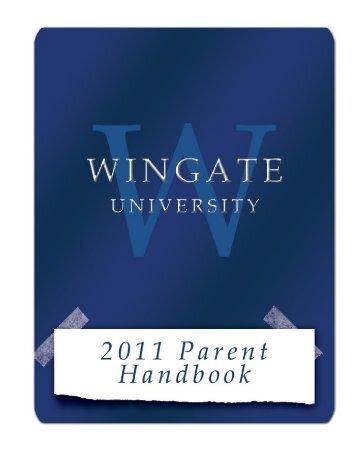 Parent Handbook - Wingate University