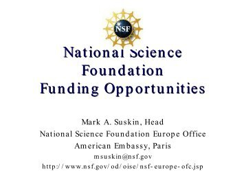 Mark Suskin - NSF Fu.. - TCPA Foundation