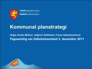 Kommunal planstrategi - Troms fylkeskommune