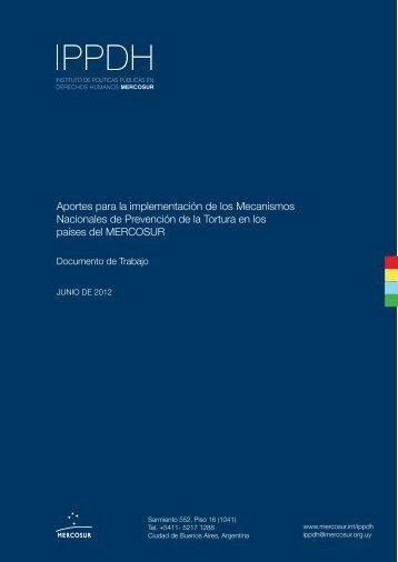 Aportes para la implementación de los ... - IPPDH - Mercosur