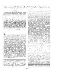 A Geometric Ultraviolet-B Radiation Transfer Model Applied to ...