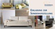 einladung zur sonderausstellung - Wolkenweich Polster-Manufaktur ...
