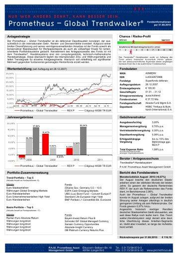 Anlagestrategie Chance / Risiko-Profil Fondsdaten ... - Prometheus