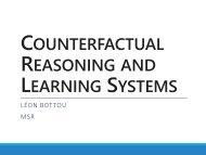 Counterfactual distribution - Leon Bottou