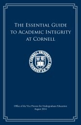 The Essential Guide to Academic Integrity at Cornell - New Student ...