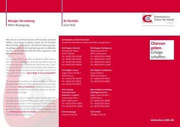KCA – Der Flyer zum Unternehmen - Kommunales Center für Arbeit