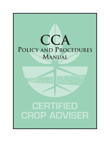 Policy and Procedures Manual - Certified Crop Adviser