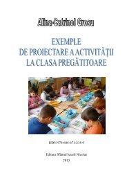 Exemple de proiectare a activităţii la clasa pregătitoare, autor Alina ...