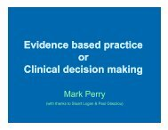 Evidence based practice or Clinical decision making