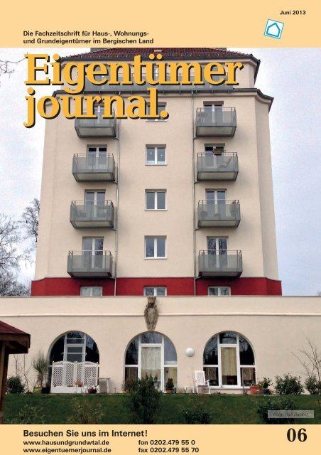 Ausgabe 06/2013 - Hausundgrundwtal.de