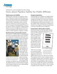 Facts about Pipeline Safety for Public Officials - Atmos Energy