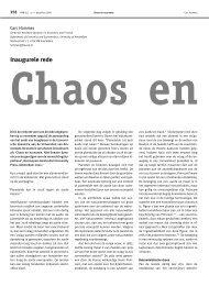 Chaos en economie - Nieuw Archief voor Wiskunde