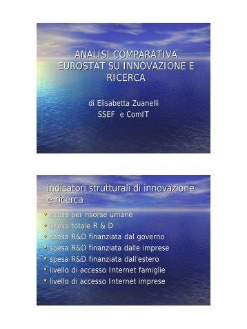analisi comparativa eurostat su innovazione e ricerca - Icomit.it