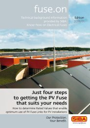 Just four steps to getting the PV Fuse that suits your ... - SIBA Fuses