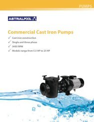 Commercial Cast Iron Pumps - Astral Pool USA