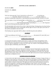 HUNTING LEASE AGREEMENT - LandAndFarm.com