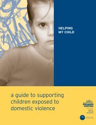 a guide to supporting children exposed to domestic violence