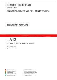stato di fatto - schede dei servizi.pdf - Piano di Governo del Territorio ...