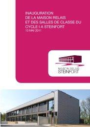 INAUGURATION DE LA MAISON RELAIS ET DES ... - Steinfort