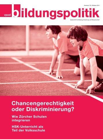 Chancengerechtigkeit oder Diskriminierung? - vpod-bildungspolitik