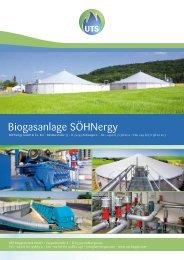 Biogasanlage SÖHNergy - UTS Biogas
