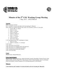 Minutes of the 5 COL Working Group Meeting - IERS