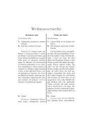Weihwasserweihe - Aktion alte Messe