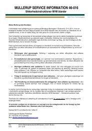 MULLERUP SERVICE INFORMATION 46-016