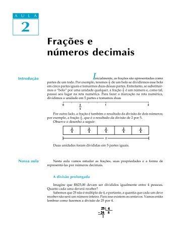 02. Frações e números decimais - Passei.com.br