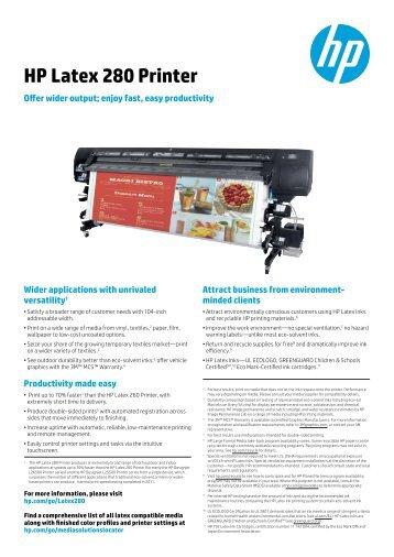 HP Latex 280 Printer