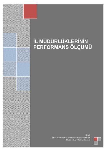 2011 Yılı Ocak- Haziran Donemi Performans ... - Türkiye İş Kurumu